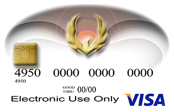 Graphic Design Visa Credit Card