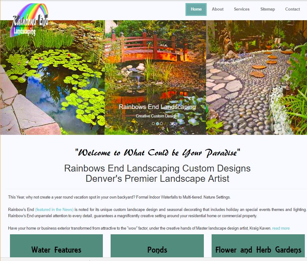 Website Design - Landscape Company